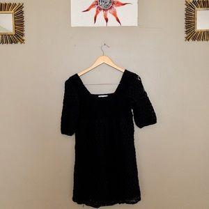 SOLITAIRE vintage tunic style lil black dress